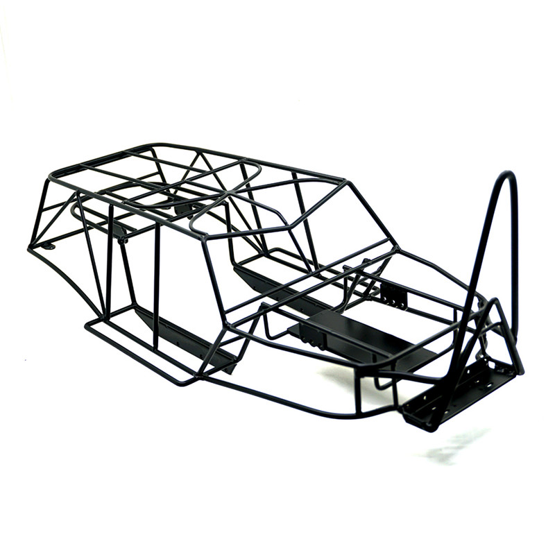все цены на 1/10 RC Rock Car Roll Cage Frame Body Black Chassis Axial Wraith 90018 RC Crawler Climbing Truck Parts онлайн