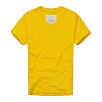 2016 Summer Brand Men S T Shirts 100 Cotton Yellow Color T Shirt Men Bottoming Shirt