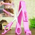 2 pcs mujeres profesionales flequillo tijeras diy estilismo herramientas de peluquería tijeras de corte de pelo con la regla del hogar