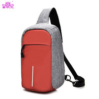 Anti Theft Buckle Design Chest Shoulder Bag Women Men Teenager Waterproof Crossbody Sling Messenger For IPad