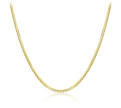Down Price Solid 18K Yellow Gold Chain Necklace/ Box Chain NecklaceDown Price Solid 18K Yellow Gold Chain Necklace/ Box Chain Necklace