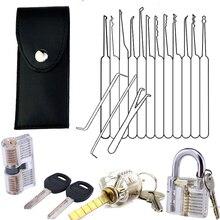 Слесарь ручной устройство для зажима инструмента палочки набор прозрачный видимый слесарное учебное пособие замок с сломанной для удаления ключа крюк