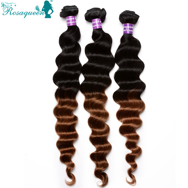 6A Malaysian Virgin Hair Loose Wave Ombre Hair Extensions 3Pcs/Lot Human Hair Weave Colored Two Tone 1B/30 Free Shipping