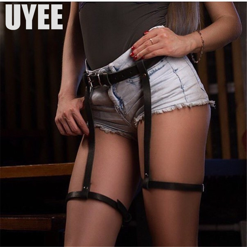 Apparel Accessories Enthusiastic Uyee Hot Sell Leather Garter Sexy Garter Belts Fetish Garters For Woman Leg Harness Bdsm Stockings Female Erotic Belt Lp-011