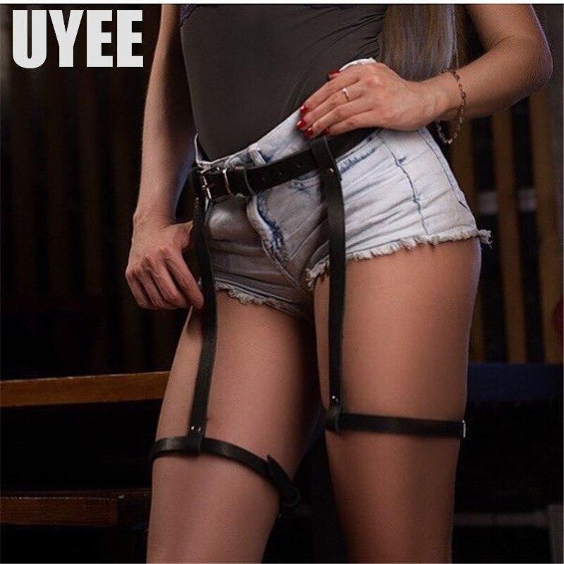 UYEE Hot Sell Leather Garter Sexy Garter   Belts   Fetish Garters For Woman Leg Harness Bdsm Stockings Female Erotic   Belt   LP-011