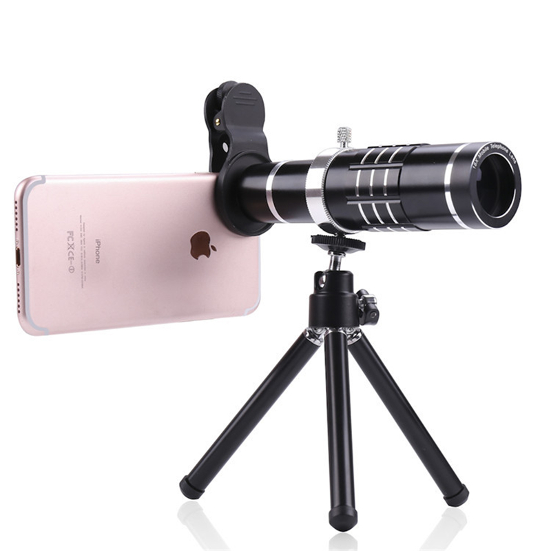 Kit de Lentes para teléfono móvil 18X Lentes ópticas Zoom teleobjetivo telescopio microscopio ojo de pez gran angular Macro lente para Smartphone - 2
