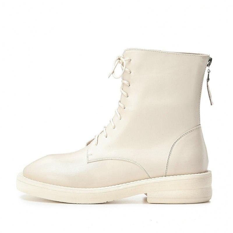 TXCNMB 2019 Stiefel Frauen Stiefeletten für Frauen Winter Echtem Leder High Heel Lace up Schuhe Frau Größe 40-in Knöchel-Boots aus Schuhe bei  Gruppe 3