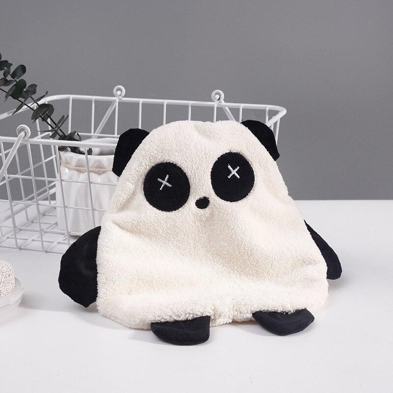 New Creative Coral Baby Hand Towel Panda Cartoon Kids Hanging Bathing Towel Children Absorbent Hand Towel Newborn Wisp Towels