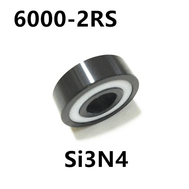 Free shipping 6000-2RS full SI3N4 ceramic deep groove ball bearing 10x26x8mm 6000 2RS