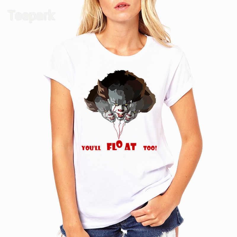 Человек воздушный шарик Джокер модная женская летняя футболка Топы короткий рукав Топы Одежда o-образным вырезом Футболка для женщин HWP4129