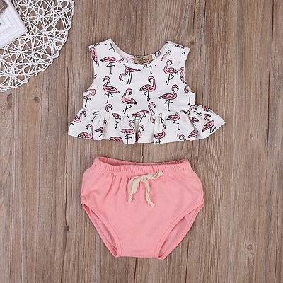 2pcs Set 2017 Summer Newborn Infant Baby Girl Clothes Sleeveless Vest Tops Bottom Outfits Set Baby Clothing 0-18M newborn infant baby boy girl clothes hooded vest top short pants outfits set 2pcs suit summer baby boy clothes