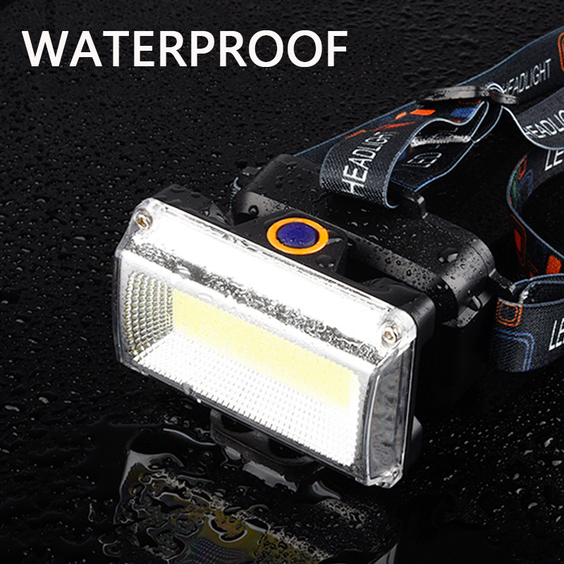 10000LM Power COB LED Headlight Headlamp DC Rechargeable Head Lamp Torch 3Mode 18650 Battery Waterproof Hunting Fishing Lighting