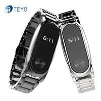 Teyo Accessories Smart Bracelet Mi Band2 Stainless Steel Strap For Xiaomi Mi Band 2 Metal Strap