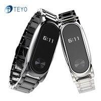 Teyo Accessories Smart Bracelet Mi Band2 Stainless Steel Strap For Xiaomi Mi Band 2 Metal Strap