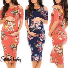 Платье карандаш с коротким рукавом и О вырезом для беременных