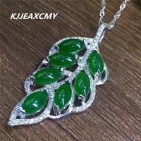 KJJEAXCMY boutique jewelry Women's natural jade Hetian jade pendant, 925 sterling silver wholesale