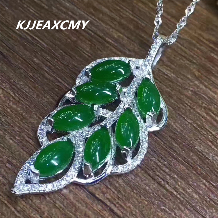 KJJEAXCMY boutique jewelry Womens natural jade Hetian jade pendant, 925 sterling silver wholesaleKJJEAXCMY boutique jewelry Womens natural jade Hetian jade pendant, 925 sterling silver wholesale