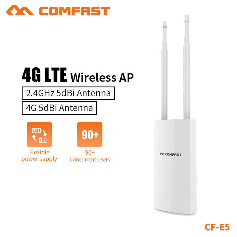 COMAFST High Power Outdoor 2.4G&4G Card Wireless Router WIFI Signal Support DC&POE Power Supply Unlimited AP Network Adapter E5