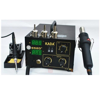 BGA soldering station Hot air gun & solder iron 2 in 1 220V/110V KADA 852D+ SMD repairing system
