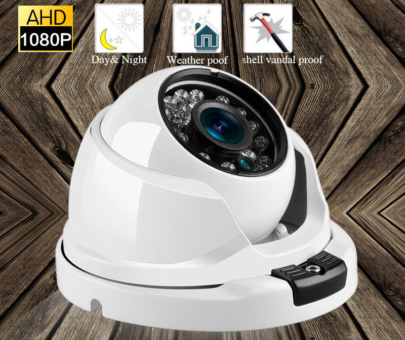 HD 1080P Security Camera 2MP AHD Surveillance Camera Metal Dome Infrared 20M Night Vision Vandalproof CCTV Camera cctv surveillance ahd security 1080p 2 0mp hd dome camera system night vision 3 6mm lens cctv camera 24leds ircut for ahd dvr