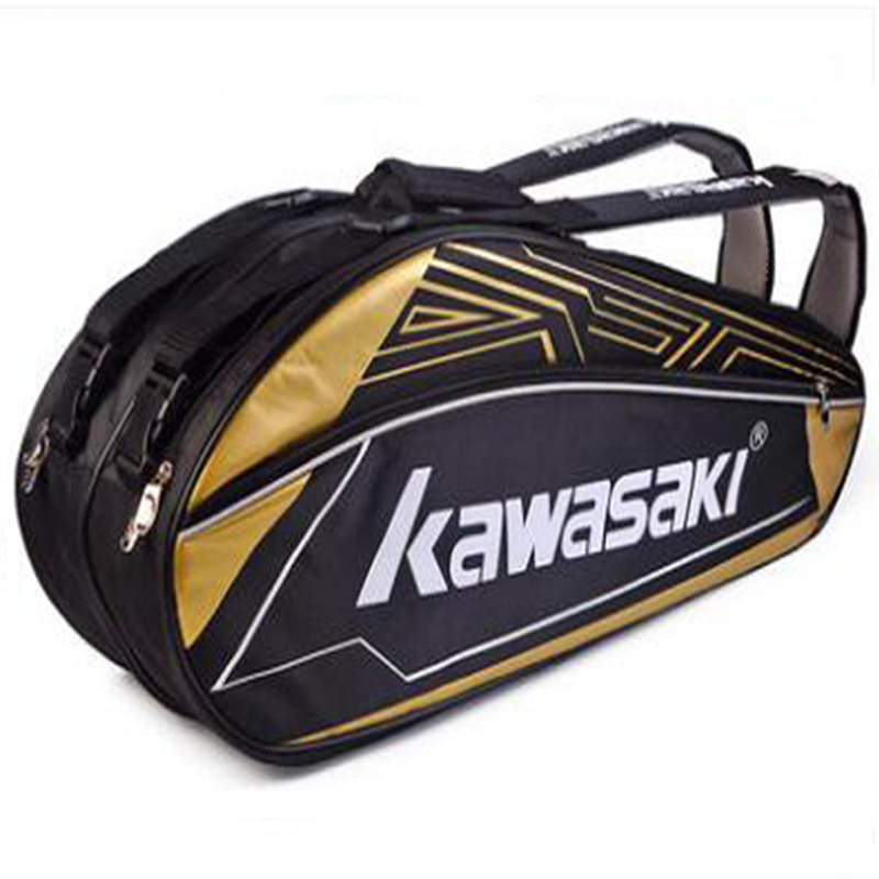 Kawasaki Badminton Racket Bag Backpack Handbag Double Shoulder Sport Gym Outdoor Fitness Workout Tenis With Shoe Bag Men