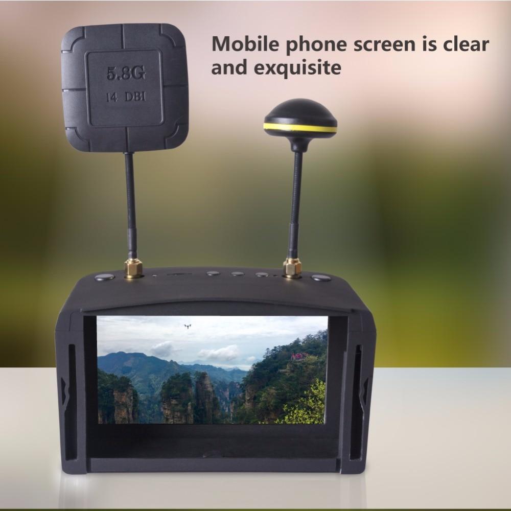 5.8G 5 นิ้ว 40CH Dual Receiver เสาอากาศคู่ FPV Goggles แว่นตาวิดีโอ DVR สำหรับ QAV 250 220 210 สำหรับรุ่น RC Racing Drone-ใน ชิ้นส่วนและอุปกรณ์เสริม จาก ของเล่นและงานอดิเรก บน   1