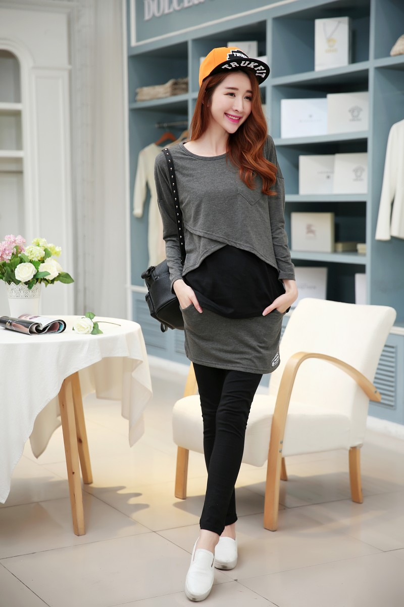 2016 Chiffon New Arrival Lycra Infatuation Maternity Clothes Cotton Suit Woolly Mammal Winter Long Sleeve Clothing T Hit Lili Y