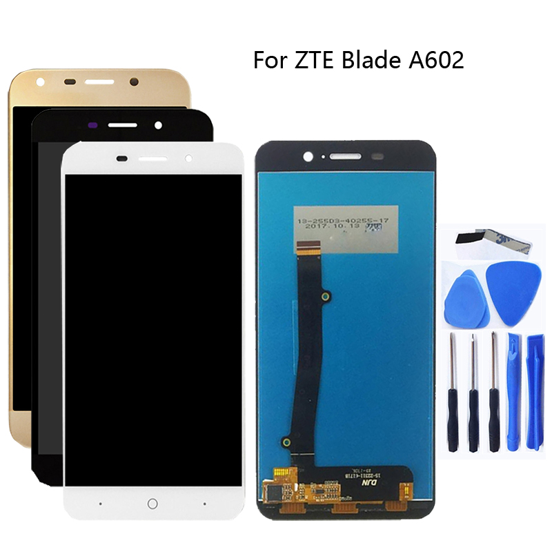 For <font><b>zte</b></font> <font><b>blade</b></font> <font><b>A602</b></font> 100% test good <font><b>LCD</b></font> <font><b>display</b></font> and touch screen good screen components for <font><b>ZTE</b></font> mobile accessories image