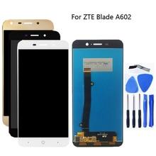 Yüksek kalite zte blade A602 LCD ekran dokunmatik ekran digitizer cam meclisi değiştirme zte Blade A602 LCD telefon parçaları