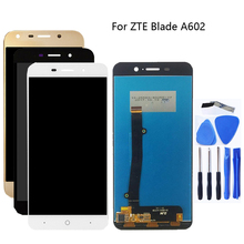 عالية الجودة ل zte بليد A602 شاشة الكريستال السائل محول الأرقام بشاشة تعمل بلمس الزجاج الجمعية استبدال ل zte بليد A602 LCD الهاتف أجزاء