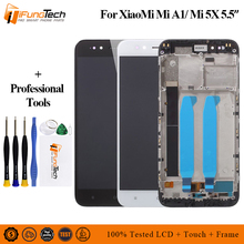 For Xiaomi Mi A1 LCD Display+Touch Screen +Frame Assembly Repair Part 5.5 Phone Accessories For XiaoMi Mi A1 lcd with frame for imac 21 5 2009 lm215wf3 sl a1 sla1 lcd display screen
