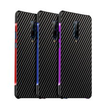 Conelz for Oneplus 7 Pro Oneplus 7 Case Cover Aluminum Alloy Bumper Carbon Fiber TPU Case Cover Protective Shell for Oneplus 7