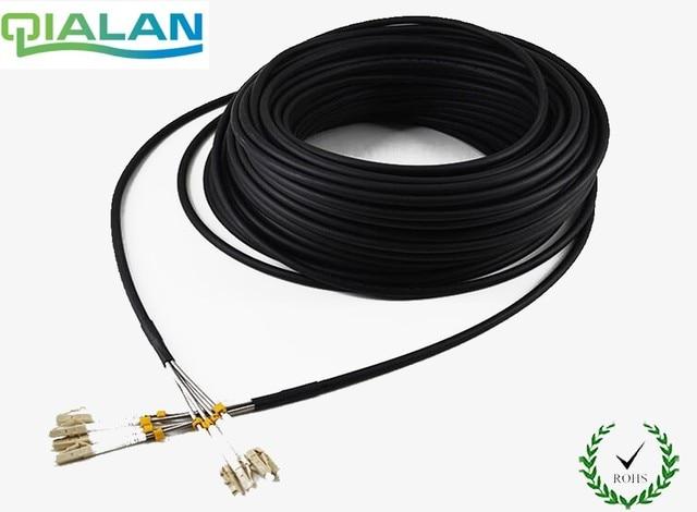 200 m LC UPC FTTA cordon de raccordement SM CPRI extérieur 4 core FTTA câble de raccordement G652 LSZH