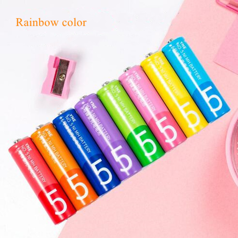 Image 2 - Colorful 8pcs/lot 1.2V 1200mah rainbow color NI MH rechareabl battery  AA AAA rechareable battery KTV microphone remote control-in Rechargeable Batteries from Consumer Electronics