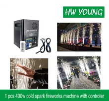 HWyoung 1 pcs 400w Cold spark fountian fireworks machine DMX Remote Control Spark Effect Fountain Stage wedding DJ party effect цена 2017