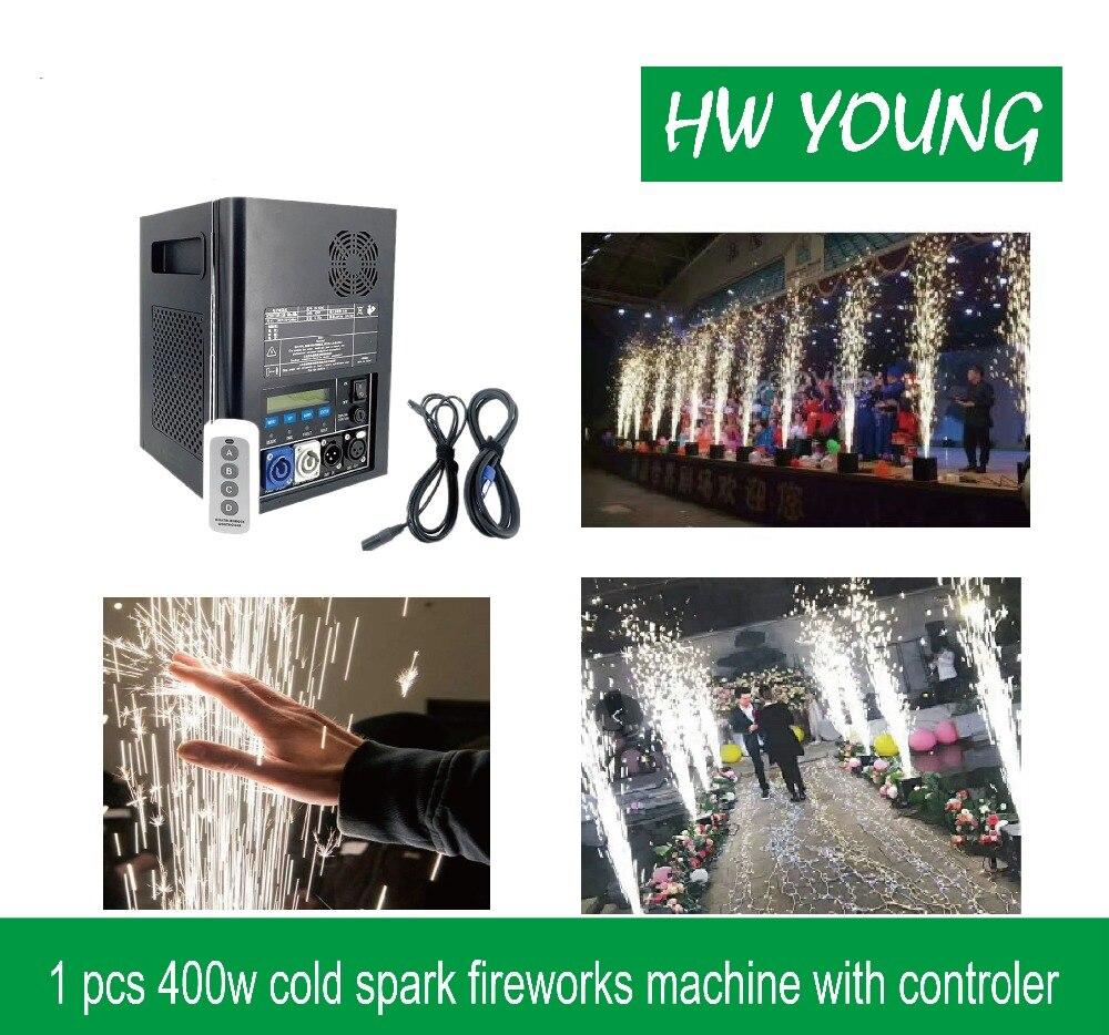 HWyoung 1 pièces 400 w froid étincelle fonmatrice feux d'artifice machine DMX télécommande étincelle effet fontaine scène mariage DJ fête effet
