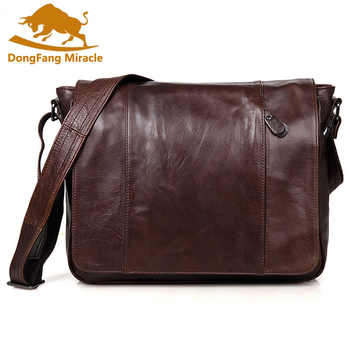New arrival genuine Leather Men Bags Men Messenger Bag vintage top Layer Leather Shoulder Bag Men's Crossbody Bag - DISCOUNT ITEM  40% OFF All Category