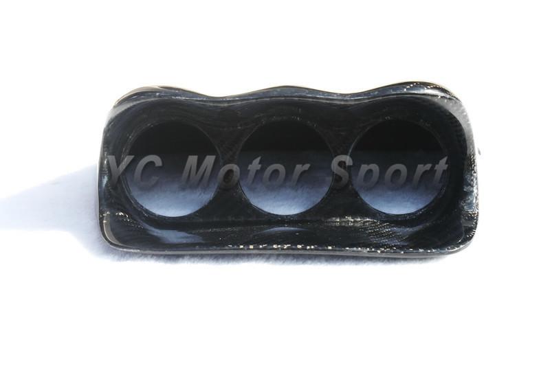 2002-2007 Suabru Impreza WRX STI 7th-9th GDA GDB Defi Style Dash Triple Gauge Pod CF (2)