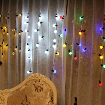 6M 20 LED String Light Outdoor Fairy Light garland Battery Operated bulb dance Light string Garden Christmas Backyard Decoration decoration inflatable bulb with light