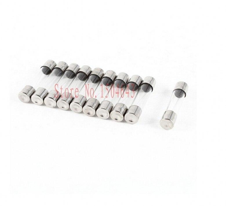 100Pcs//Box  2A 250V Fuses 2 Amp Fast-Blow Fuse 5mm x 20mm F2AL250V Glass Tube Hb