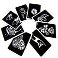 50pcs/lot Glitter Tattoo Stencil Drawing For Painting, Airbrush Tattoo Stencils For Tattoos Temporary Henna Templates Stickers