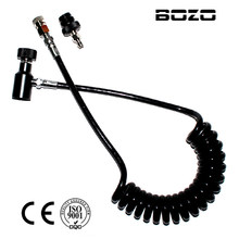 PCP airgun shooting paintball Coil Remote Hose Thick line 2.5M without Slide Check(BLACK) paintball accessories(China)
