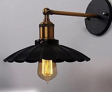 Художественное освещение Промышленное E27 Эдисона настенный светильник винтажный черный железная готовая клетка освещение фитинг для украшения дома - Цвет корпуса: Оранжевый