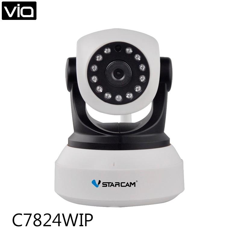 Vstarcam C7824WIP Free Shipping Onvif 2.0 720P IP Camera Wireless Wifi CCTV Camera HD Indoor Pan/Tilt IR CUT Night Vision wifi ipc 720p 1280 720p household camera onvif with allbrand camera free shipping
