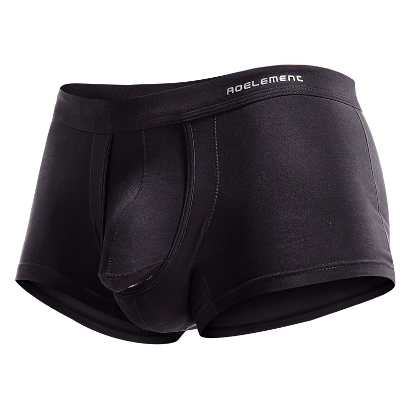 Image 5 - New Fashion Bullet Separation Underwear Function Male Scrotum Support Vein Modal Bag Varietal Men's Boxer Men's Sexy Underwear-in Boxers from Underwear & Sleepwears
