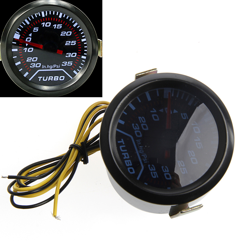 Popular Brand 1 Set Universal 52mm White Digital Led Turbo Boost Meter Gauge Smoke Tint Lens Psi Car Truck Parts Gauges