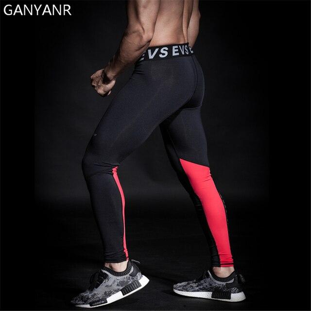 364014e356 GANYANR Running Tights Men Yoga Basketball Fitness Sports Skins Gym Leggings  Athletic Compression Pants Jogging Bodybuilding Gay