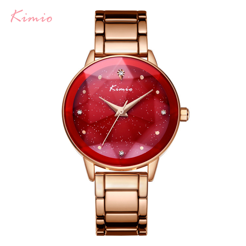 KIMIO Brand Women Star Big Dial Bracelet Watches Stainless Steel Ladies Watch Luxury Diamond Women's Watches reloj mujer relog все цены