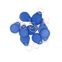 Em4305 Rewritable 125Khz Rfid ID Tag Token Keyfobs Ring Blue 100PCS