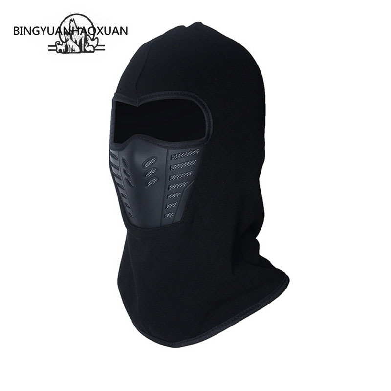 BINGYUANHAOXUAN Autumn And Winter Outdoor Men And Women Anti-snow Thick Hat Masks Multi-Functional Sport Warm Fleece Cap Beanie